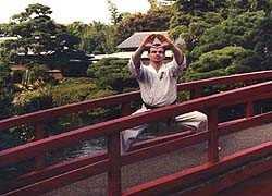 Drewniak Kiba-dachi