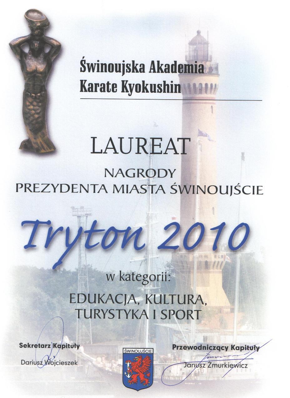 Tryton - laureat